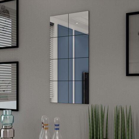 Hommoo Frameless Mirror Tiles Glass 8 pcs 20.5 cm VD09383