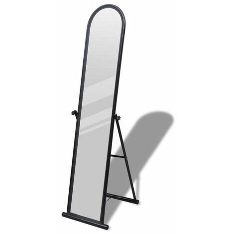 Hommoo Free Standing Floor Mirror Full Length Rectangular Black VD08267