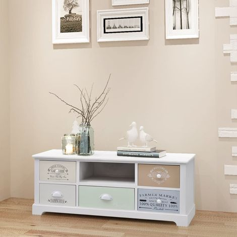 Hommoo French TV Cabinet Wood