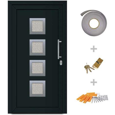 Hommoo Front Entrance Door Anthracite 108x200 cm