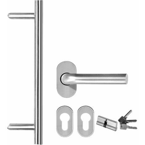 Hommoo Front Entrance Door White 98x208 cm QAH21411