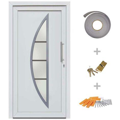 Hommoo Front Entrance Door White 98x208 cm VD21439