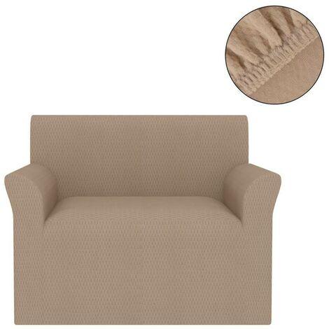 Hommoo Funda elástica para sofá beige piqué