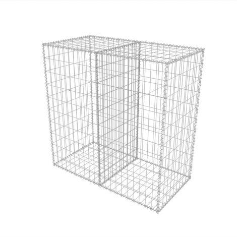 Hommoo Gabion Basket Galvanised Steel 100x50x100 cm QAH04672
