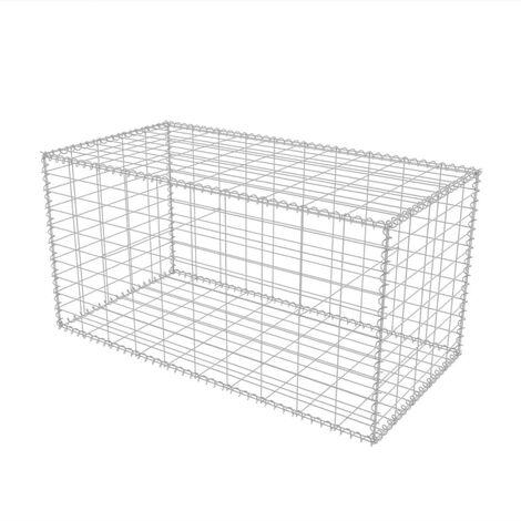 Hommoo Gabion Basket Galvanised Steel 100x50x50 cm QAH04671