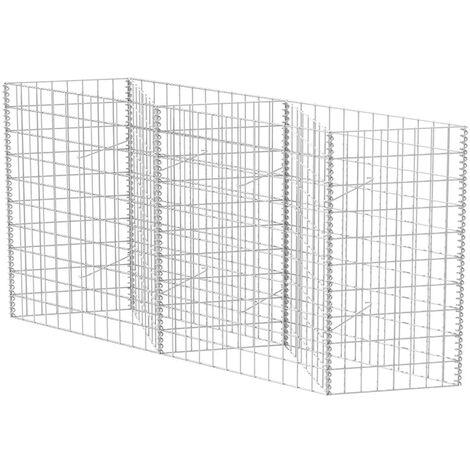 Hommoo Gabion Basket Galvanised Steel 120x30x100 cm QAH04661