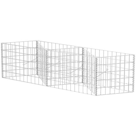 Hommoo Gabion Basket Galvanised Steel 120x30x50 cm QAH04662