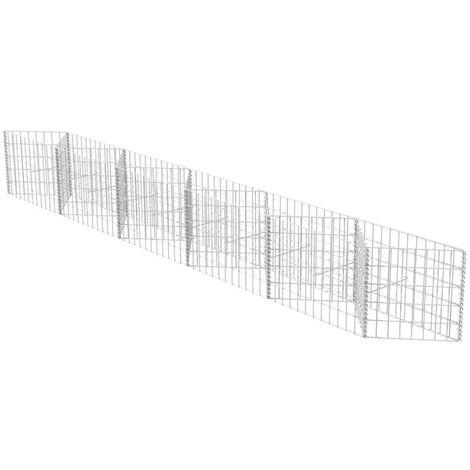 Hommoo Gabion Basket Galvanised Steel 300x30x50 cm QAH04660