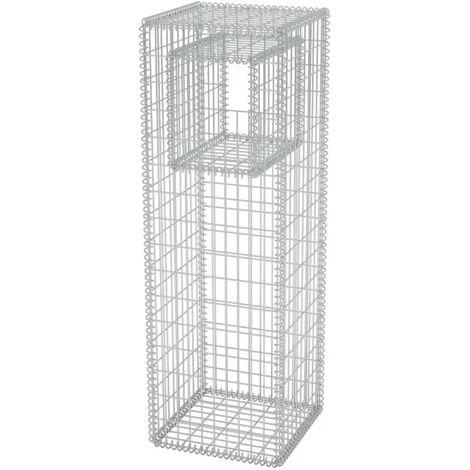 Hommoo Gabion Basket Post/Planter Steel 50x50x160 cm QAH04663
