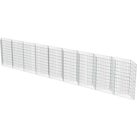 Hommoo Gabion Wall Galvanised Steel 630x30x100 cm VD05476