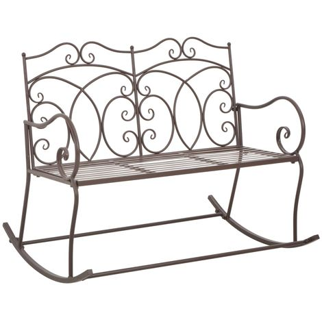 Hommoo Garden Bench 104 cm Iron Antique Brown
