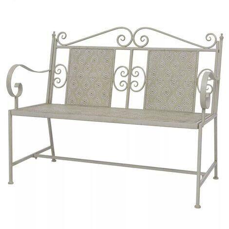 Hommoo Garden Bench 115 cm Steel Grey
