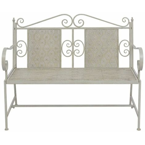 Hommoo Garden Bench 115 cm Steel Grey QAH27537