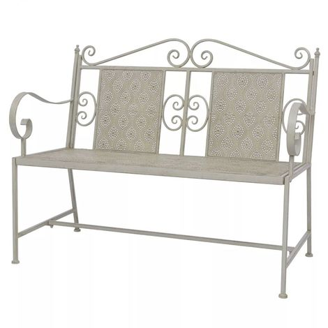 Hommoo Garden Bench 115 cm Steel Grey VD27537