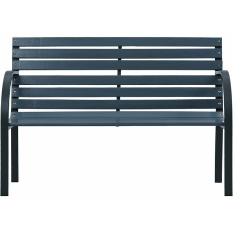 Hommoo Garden Bench 120 cm Grey Wood QAH30275