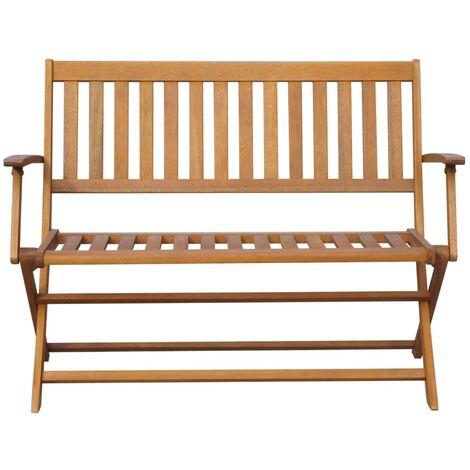Hommoo Garden Bench 120 cm Solid Acacia Wood QAH28339