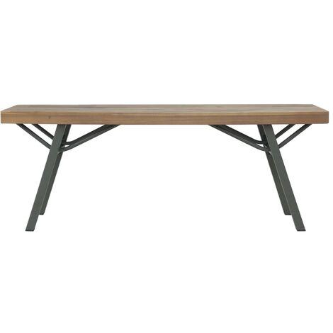 Hommoo Garden Bench 120 cm Solid Acacia Wood QAH28459