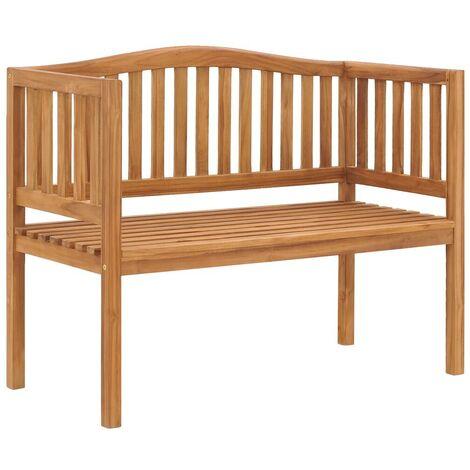Hommoo Garden Bench 120 cm Solid Teak Wood VD46998