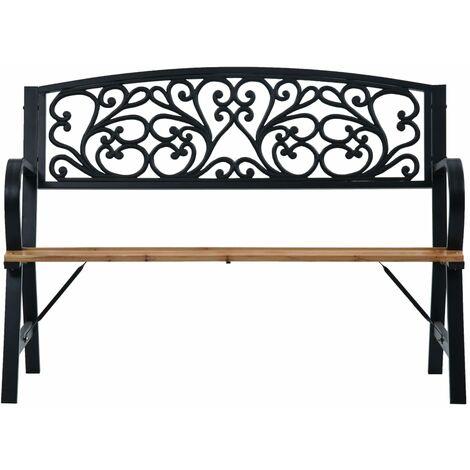 Hommoo Garden Bench 120 cm Wood QAH30279