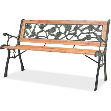 Hommoo Garden Bench 122 cm Wood
