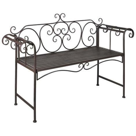 Hommoo Garden Bench 132 cm Steel Antique Brown VD26220