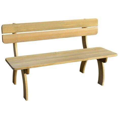 Hommoo Garden Bench 150 cm FSC Impregnated Pinewood