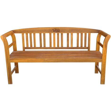 Hommoo Garden Bench 157 cm Solid Acacia Wood QAH28338