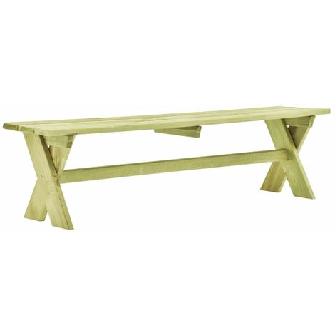Hommoo Garden Bench 170 cm Impregnated Pinewood VD46831