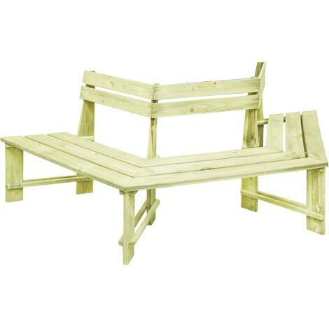 Hommoo Garden Bench 240 cm Impregnated Pinewood QAH46869