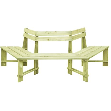 Hommoo Garden Bench 240 cm Impregnated Pinewood VD46869