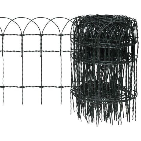 Hommoo Garden Border Fence Powder-coated Iron 10x0.4 m VD03806