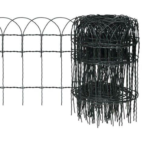 Hommoo Garden Border Fence Powder-coated Iron 25x0.4 m VD03807