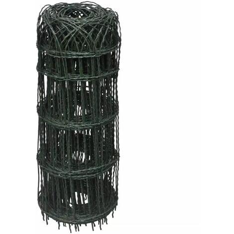 Hommoo Garden Border Fence Powder-coated Iron 25x0.65 m QAH03809