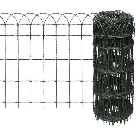 Hommoo Garden Border Fence Powder-coated Iron 25x0.65 m VD03809
