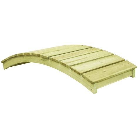 Hommoo Garden Bridge 170x74 cm Impregnated Pinewood VD46893