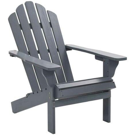 Hommoo Garden Chair Wood Grey