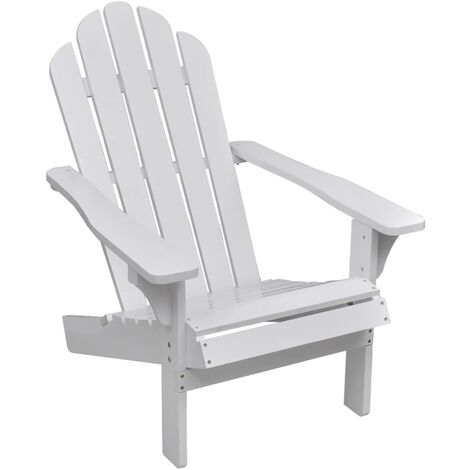 Hommoo Garden Chair Wood White VD26272