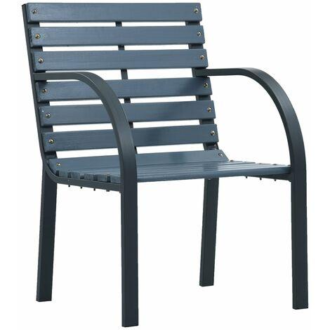 Hommoo Garden Chairs 2 pcs Grey Wood QAH30277