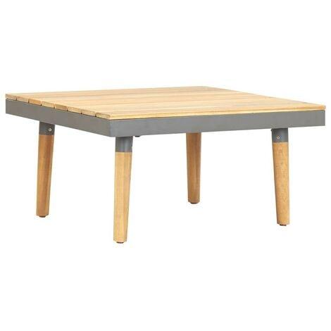 Hommoo Garden Coffee Table 60x60x31.5 cm Solid Acacia Wood VD30004