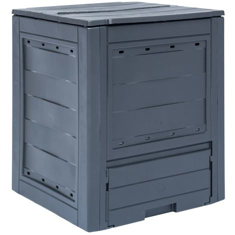 Hommoo Garden Composter Grey 60x60x73 cm 260 L