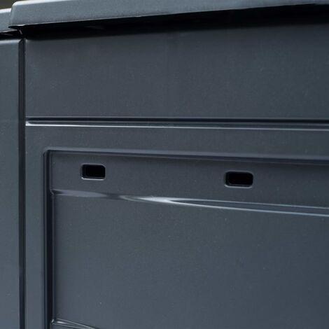 Hommoo Garden Composter Grey 60x60x73 cm 260 L QAH29807