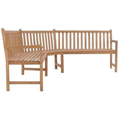 Hommoo Garden Corner Bench 202x202x90 cm Solid Teak