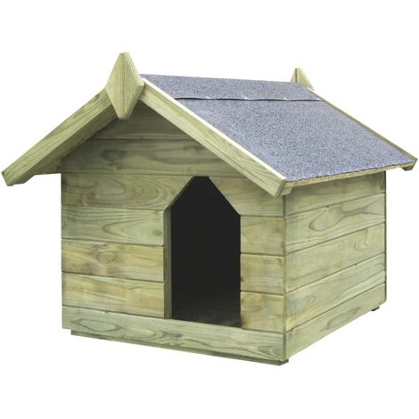 Hommoo Garden Dog House with Opening Roof FSC Impregnated Pinewood VD29301