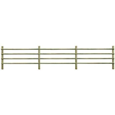 Hommoo Garden Fence FSC Impregnated Pinewood 6 m VD27645