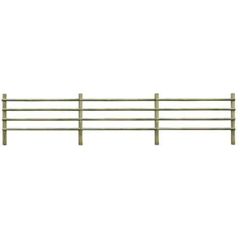Hommoo Garden Fence FSC Impregnated Pinewood 6 m VD27646