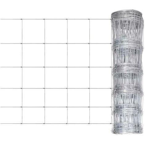 Hommoo Garden Fence Galvanised Steel 50 m 80 cm