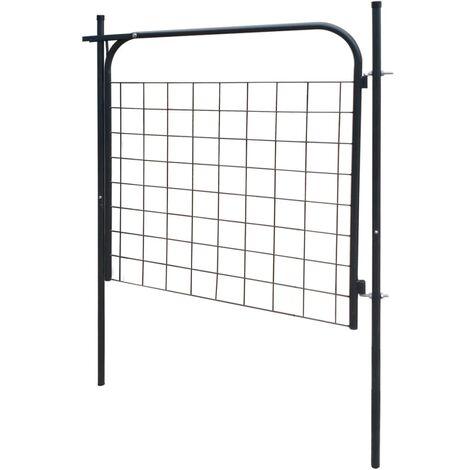 Hommoo Garden Fence Gate 100x100 cm Anthracite QAH04428