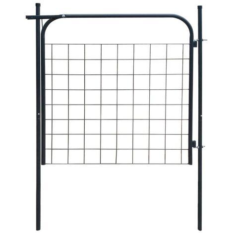 Hommoo Garden Fence Gate 100x100 cm Anthracite VD04428
