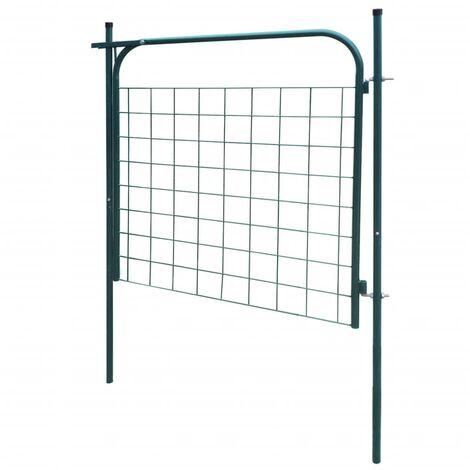 Hommoo Garden Fence Gate 100x100 cm Green QAH04427