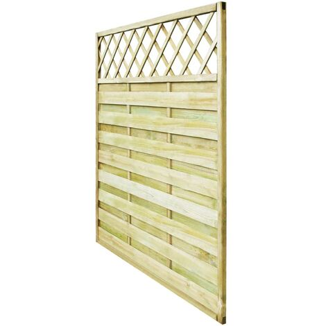 Hommoo Garden Fence Panel with Trellis Wood 180x180 cm QAH26649